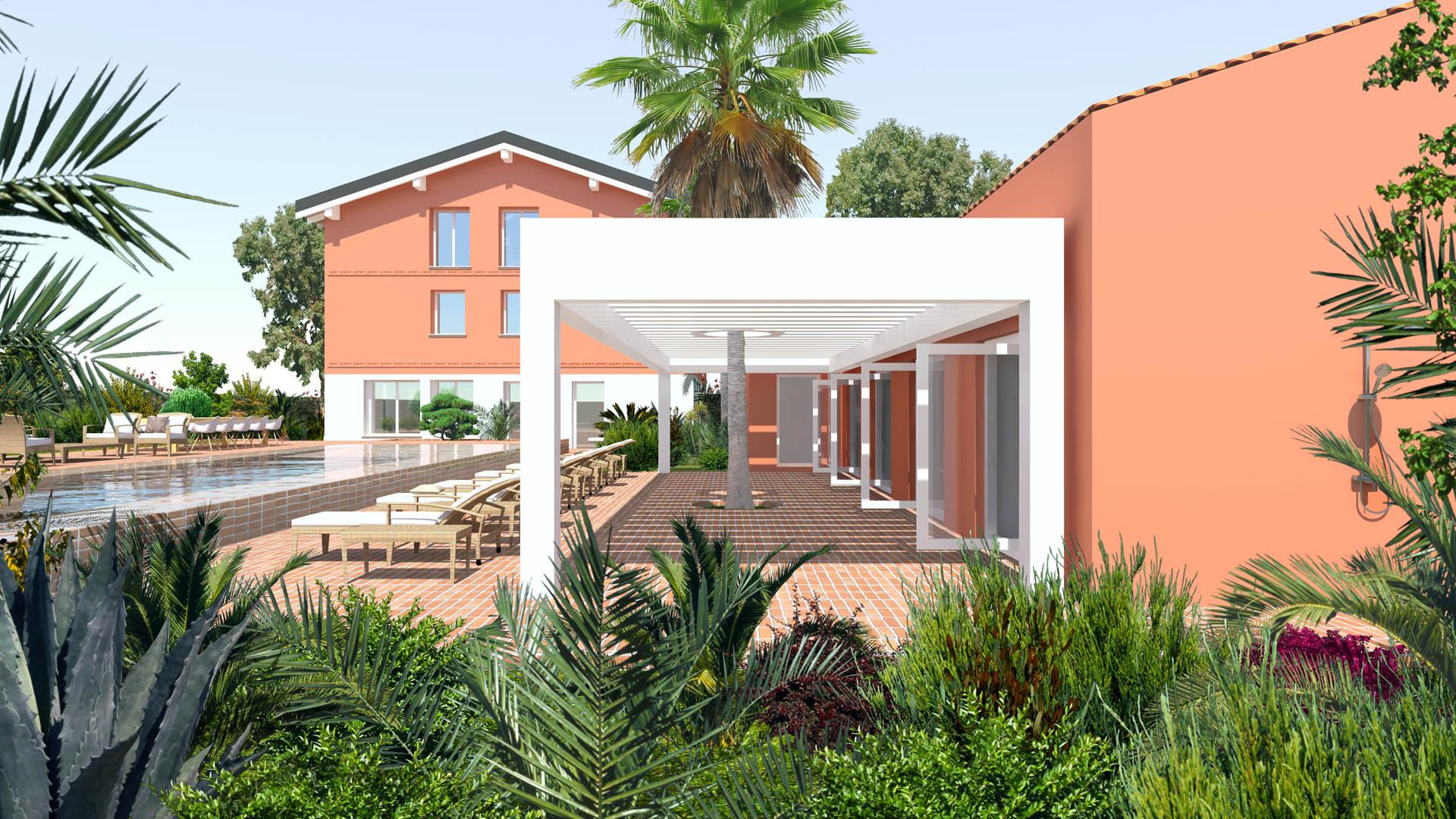Studio Matteoni Piscina e Pool House nella campagna modenese